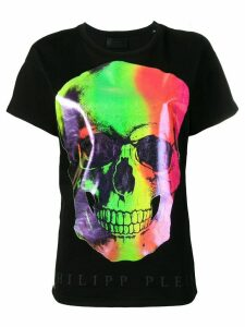 Philipp Plein multicoloured skull print T-shirt - Black