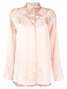 Stella McCartney lace detail shirt - PINK