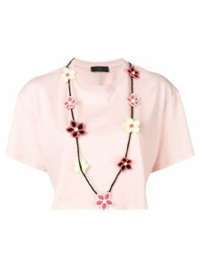Alanui cropped T-shirt - PINK