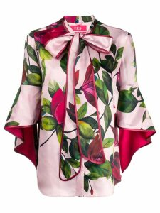 F.R.S For Restless Sleepers pussy-bow floral blouse - PINK