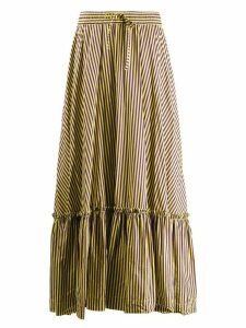 P.A.R.O.S.H. striped skirt with flounce - Yellow