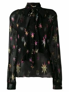Saint Laurent mao collar blouse - Black