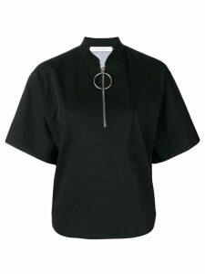 Cédric Charlier structrued jersey top - Black