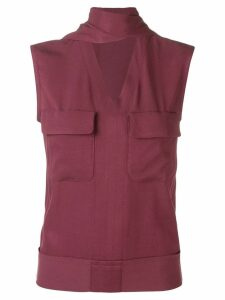 Golden Goose patch pocket vest top - Red