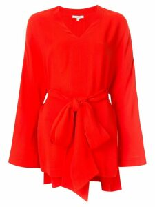 Layeur tie waist blouse - Red