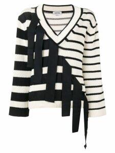 Monse multi-pattern knit sweater - Blue