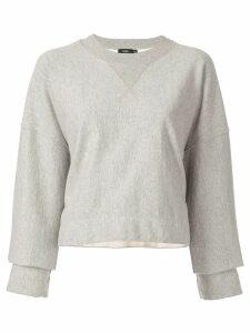 Bassike raw cut off sweatshirt - Grey