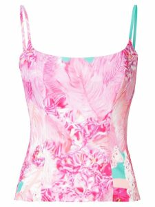 Halpern printed fitted camisole - PINK