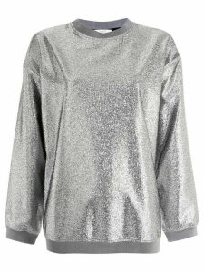 Layeur metallic sheen sweatshirt - Silver
