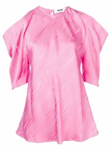 MSGM cut-out shoulder blouse - PINK