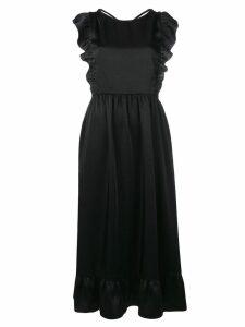 Red Valentino open back midi dress - Black