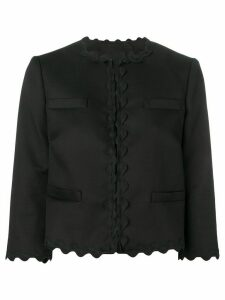 RedValentino scalloped cropped jacket - Black