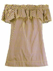 P.A.R.O.S.H. striped ruffle shirt - Yellow