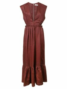 Tibi deep v-neck dress - Red