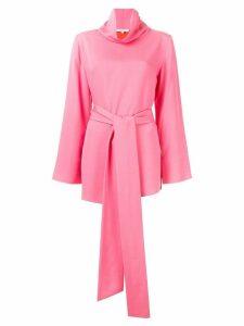 Layeur tie waist blouse - PINK