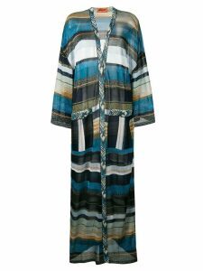 Missoni long striped cardigan - Blue