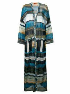 Missoni long striped cardigan - Blue