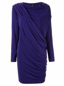 Norma Kamali draped wrap cardigan - PURPLE