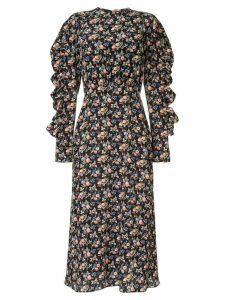 Les Rêveries ruffled floral dress - Multicolour
