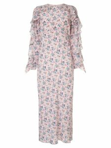 Les Reveries pink floral dress