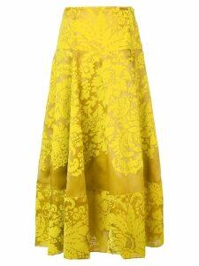 Rosie Assoulin floral print midi skirt - Yellow