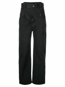 Y/Project deconstructed jeans - Black