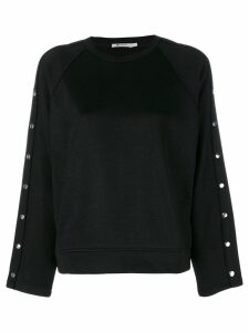 T By Alexander Wang studded sweatshirt - Black