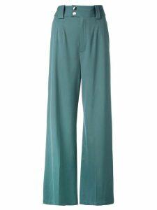 Proenza Schouler Wide Leg Pants - Blue