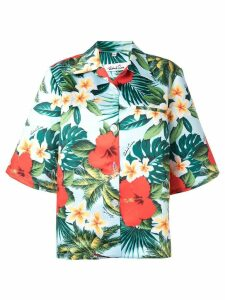 Richard Quinn Hawaii print shirt - Blue