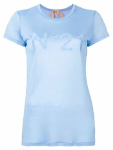 Nº21 printed logo T-shirt - Blue