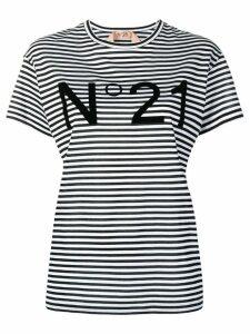 Nº21 striped T-shirt - Black