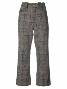 Marc Jacobs Creased cropped plaid pants - Brown