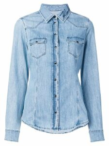 Karl Lagerfeld slim-fit denim shirt - Blue