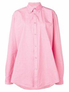 Balenciaga logo printed shirt - PINK