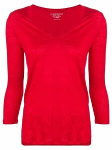 Majestic Filatures knitted T-shirt - Red