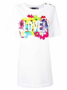 Love Moschino printed T-shirt dress - White