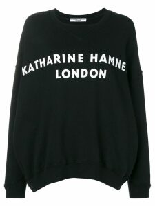 Katharine Hamnett London logo print sweatshirt - Black