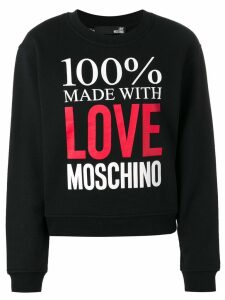 Love Moschino logo sweater - Black