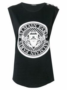 Balmain Balmain medallion print tank top - Black