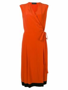 Cashmere In Love crepe envelope wrap dress - Orange