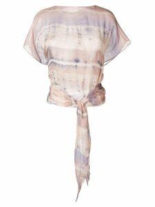 Raquel Allegra tie-dye blouse - PINK