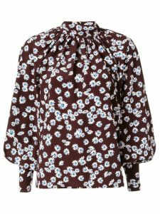 Anna October daisy print blouse - Brown
