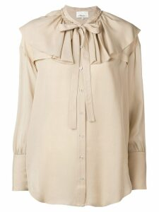3.1 Phillip Lim Ruffle-Collar Silk Blouse - NEUTRALS