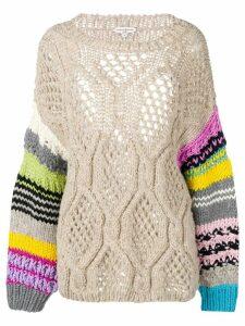 Natasha Zinko chunky knit jumper - NEUTRALS