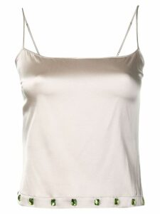 Priscavera embellished satin camisole - NEUTRALS