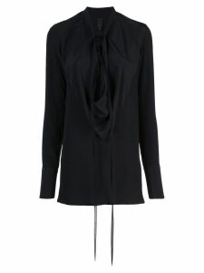 Vera Wang draped front blouse - Black