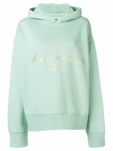 Mm6 Maison Margiela printed logo hoodie - Green