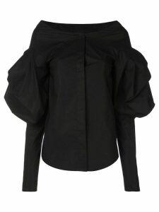 Vera Wang puff sleeve shirt - Black