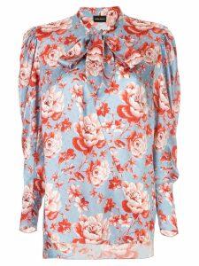 Magda Butrym floral print blouse - Blue