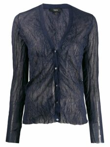 Theory crinkle effect cardigan - Blue